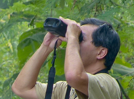 The Sony DEV-30 digital video binoculars in action