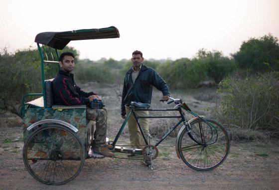 rickshaw facilitated birding