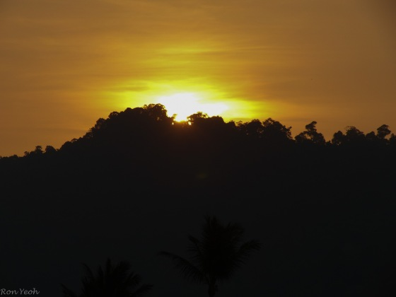 sunrise over aonang