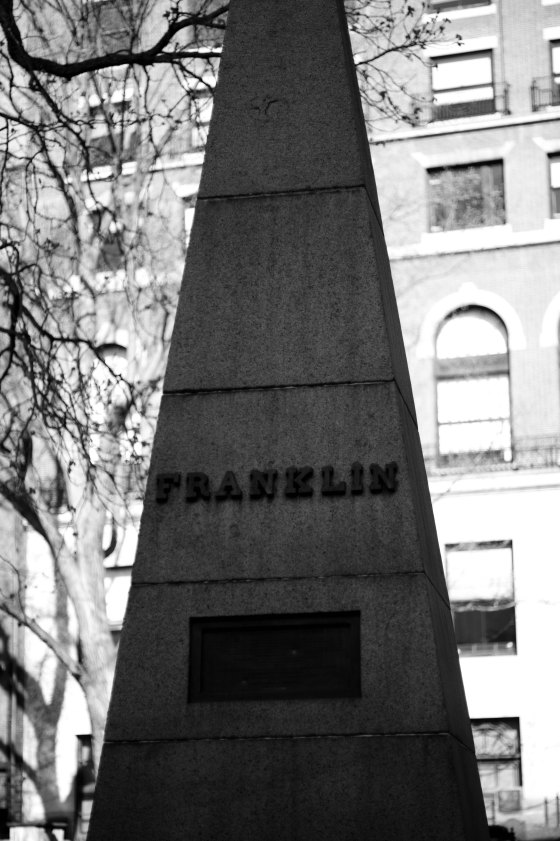 The Franklin tombstone