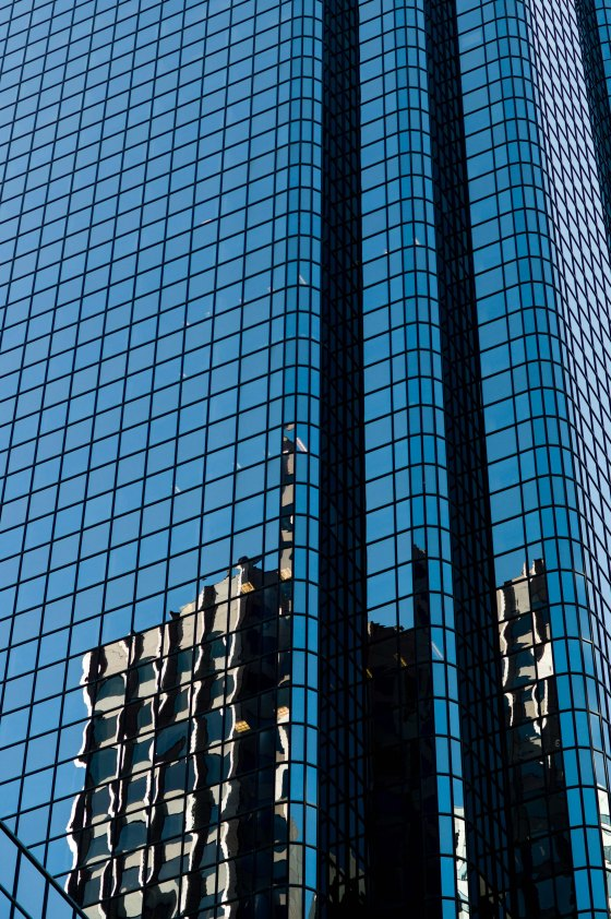 where skyscrapers soared