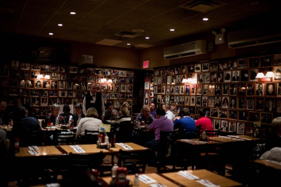 dining room at Carnegie's Deli