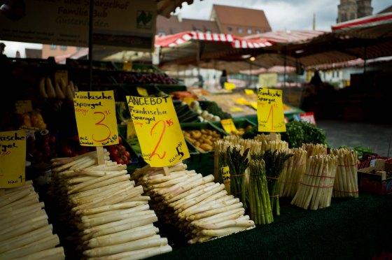 It was white asparagus season!
