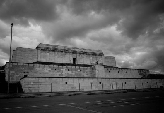 the massive terraced structure at the Zeppelin Field