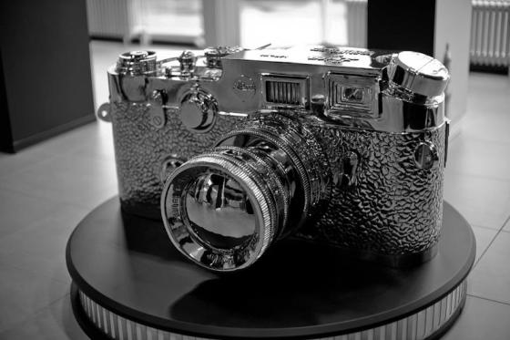 Giant Leica model in Solms facility...wonder what happened to it as I didn't see it in the new Leitzpark facility in Wetzlar