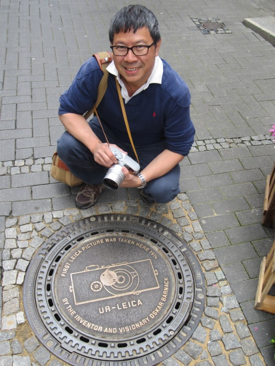 commemorative plaque to show the spot from which the first 35mm photo was taken with a Leica