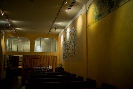 replica of St Luke's Chapel...