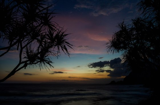 the colours of the fading light were enchanting