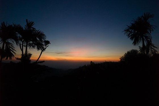 sunrise colours from royal trawas hotel