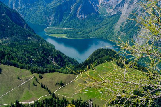 view of Konigsee from the top