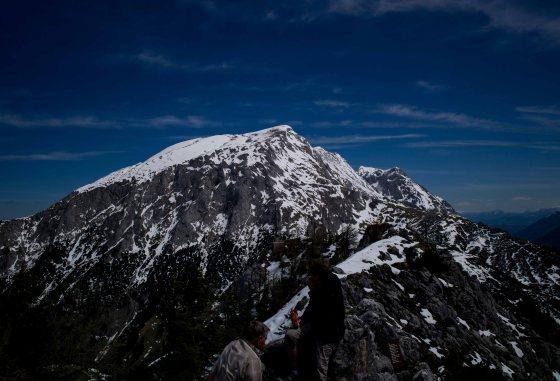a nearby peak