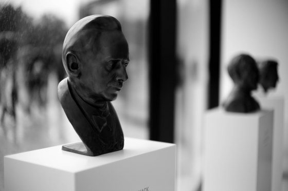 Bust of Oskar Barnack, the inventor of 35mm photography