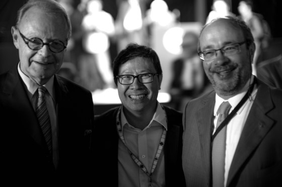 The former chairman of Hermes and Andreas Kaufman, the boss of Leica