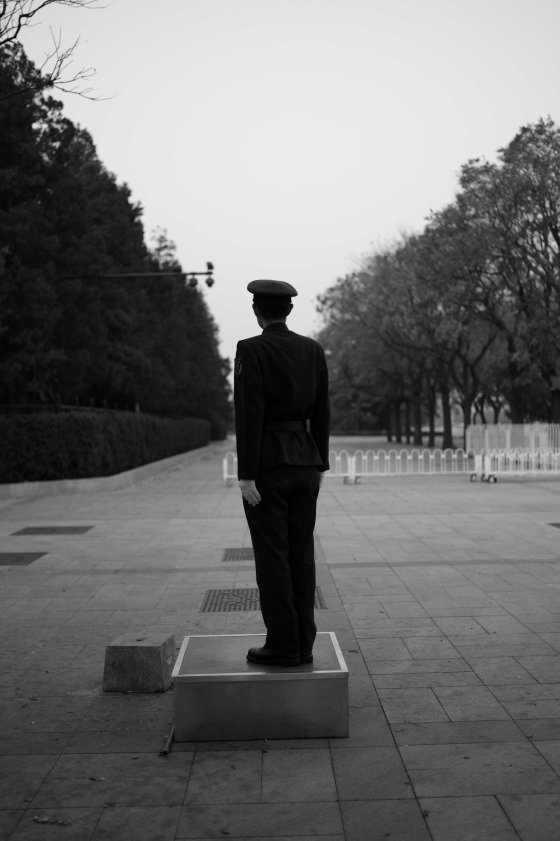 solitary guard in Tiananmen