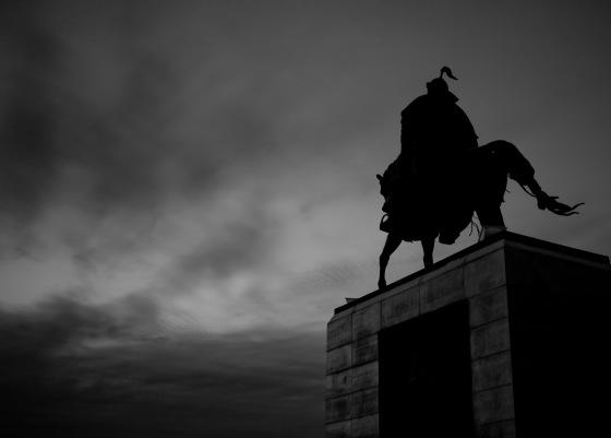 Genghiz Khan' statue in Mongolia