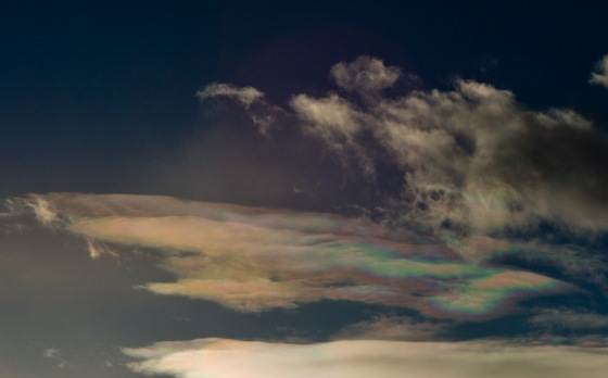 iridescent clouds over mongolia