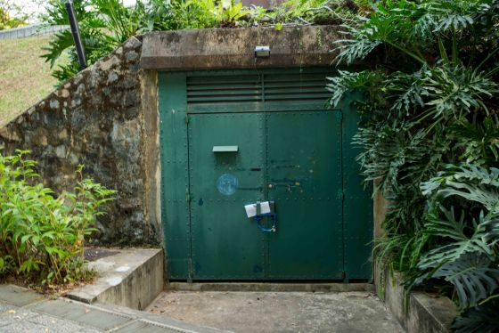The Battle Box : an old underground bunker, now a museum but closed for maintenance