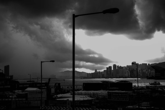the storm gathering momentum as it rolled into HK