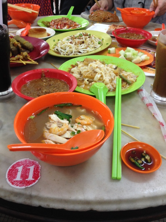 Ipoh Hor Fun from Kong hing with curry chee cheong fun etc in background
