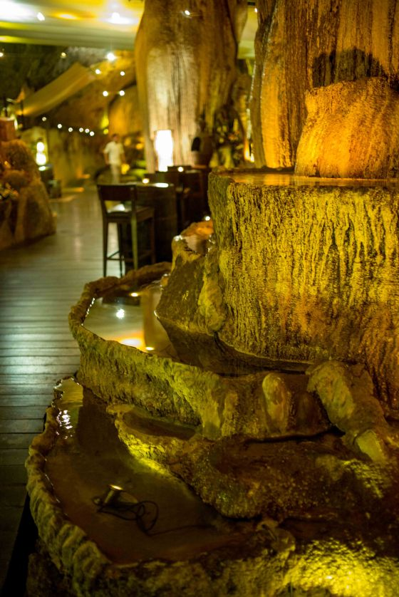 a cave which is beautifully preserved and presented..having a drink or meal here is special.