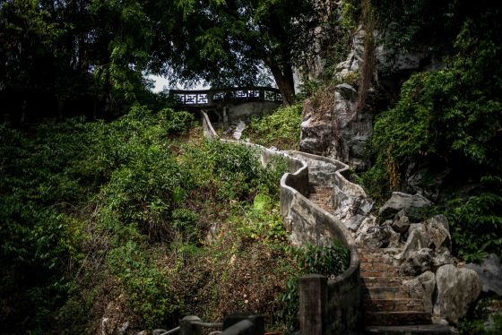 Hill walk in Perak Caves