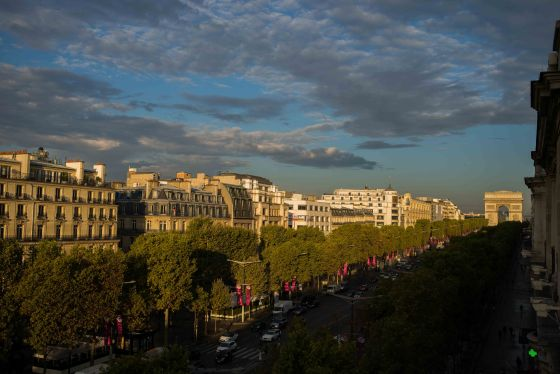 Dawn on the Champs Elysee