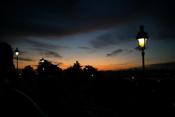 Daybreak over the city