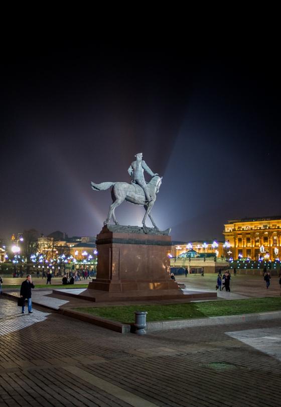 General Zhukov's statue