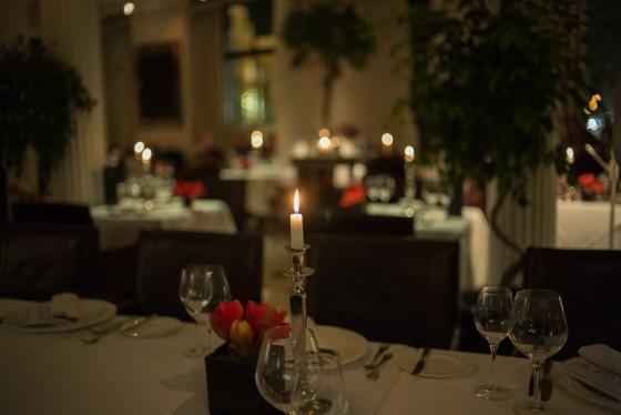 place settings at the Bolshoi restaurant