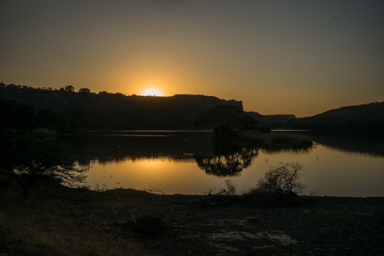 sunset over ranthambore