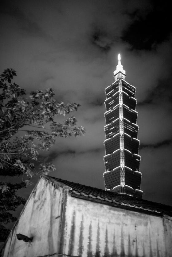 Taipei 101 in B&W