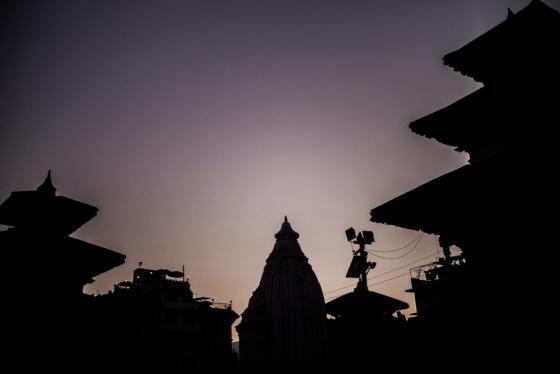the square at Basanthapur