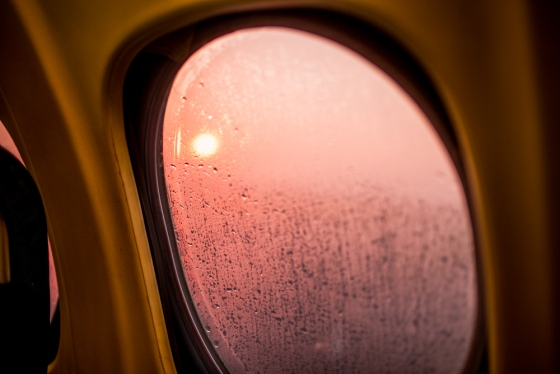 readying for takeoff with the sunrise