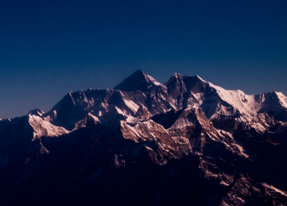 And here it is, Everest or Sagarmatha, the roof of the world..we were brought into the cockpit to get this view, and the pilots and stewardesses were wonderful in pointing out the various peaks...
