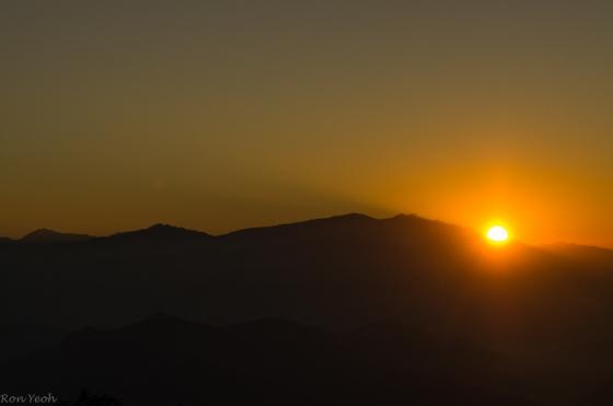 the sun gradually emerged