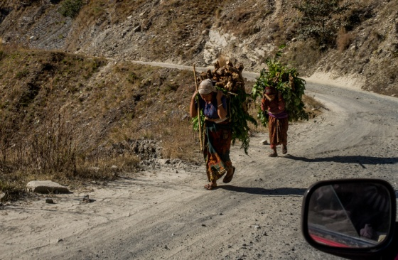 the road to Hetauda cross the mountains