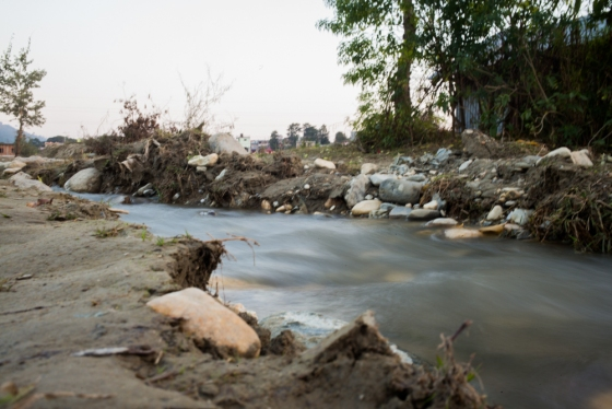 stream leading to the river Rapti