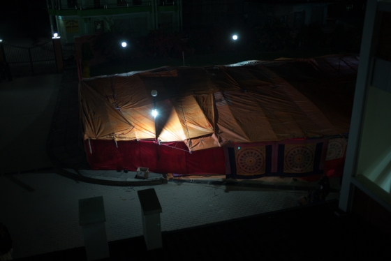 they were housed in hired tents as many had come from afar