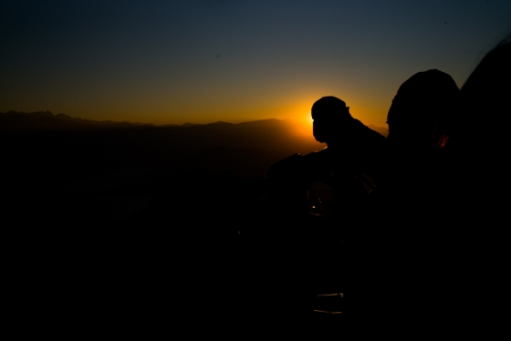 catching the sunrise from Nagarkot