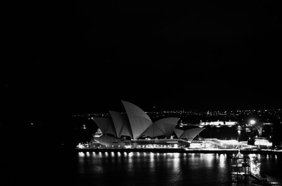 the sydney opera house predawn