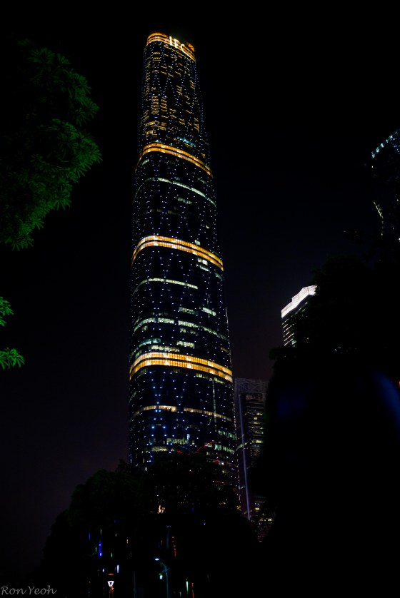 the IFC Tower by night is just spectacular