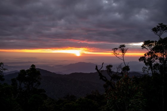 sunrise over genting highlands