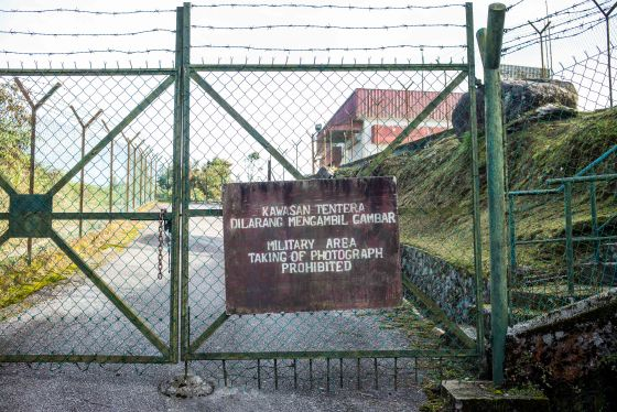 the gate at the radar station