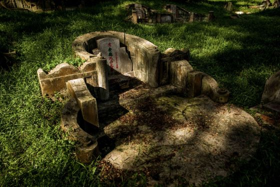 A Teochew grave without the posterior extensions