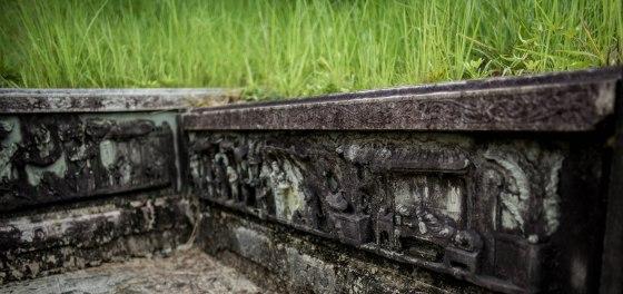 detail of tomb engravings
