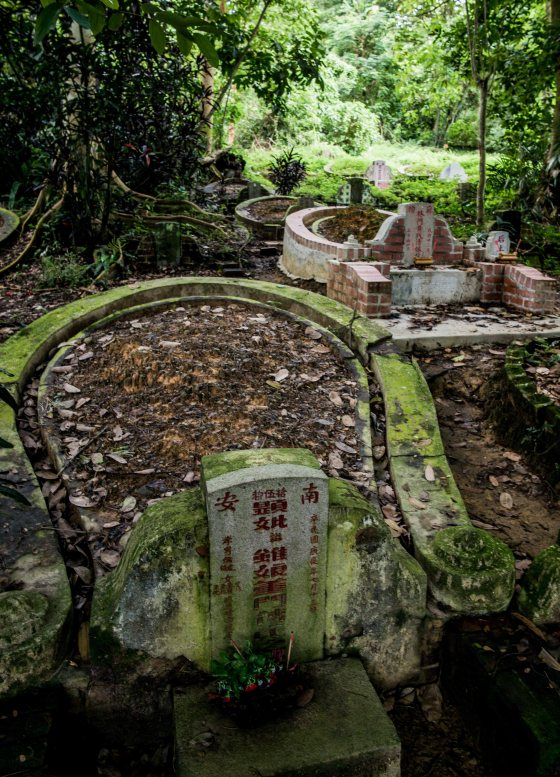 this was the start of a trail that led to the summit of hill3, where a well known singapore called Ong Sam Leong was interred