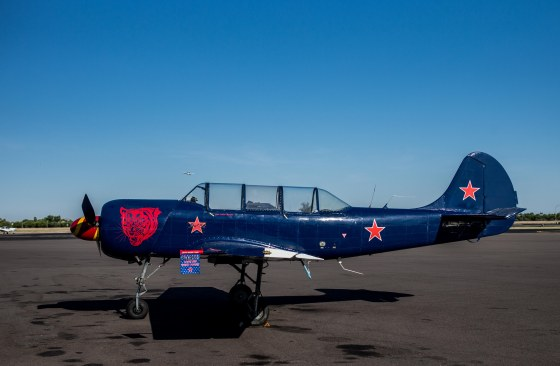 The other aircraft to be used by Franc and his instructor was the Russian Yak52..a very similar place to the Nanchang