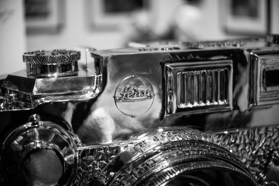 at the entrance was a chrome Leica III...just like the one at the Leica factory in Solms