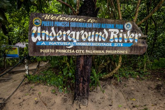 2.5 hours after we set off we finally descended the last steep steps and emerged at the ranger station where the start of the underground river was...it was also where we were supposed to look for the endangered Palawan Peacock Pheasant