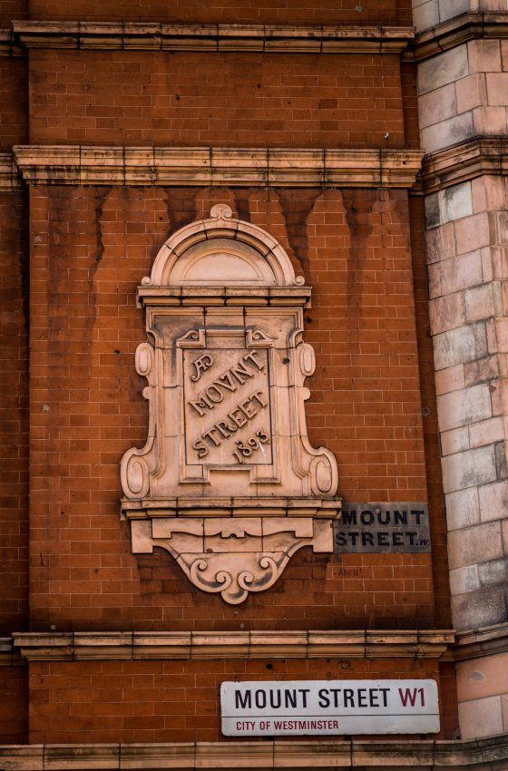 Round the corner, a collection of road street signs of Mount Street through the ages